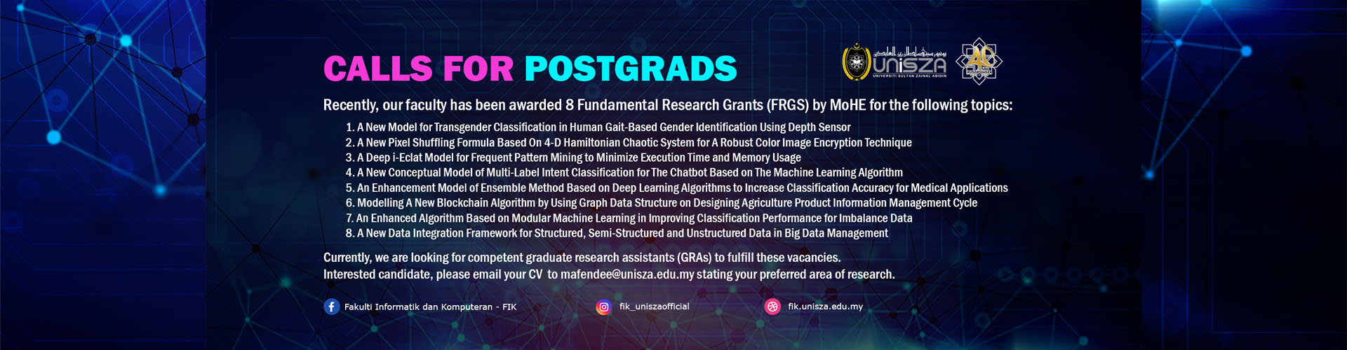 Call For Postgrads